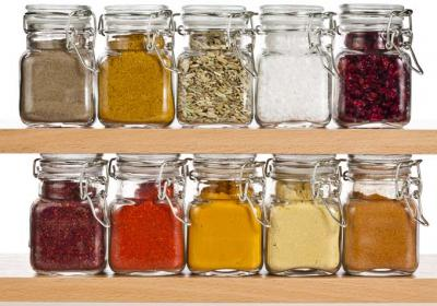 Salt and pepper would sit on the kitchen table, while all the other spices sat in the cupboard.