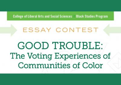 """Good Trouble"" essay contest flyer"
